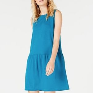 New Eileen Fisher Drop Waist Sleeveless Dress
